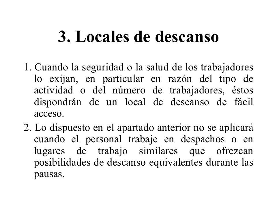 3. Locales de descanso
