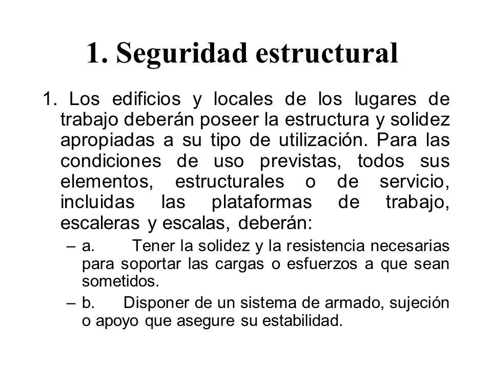 1. Seguridad estructural