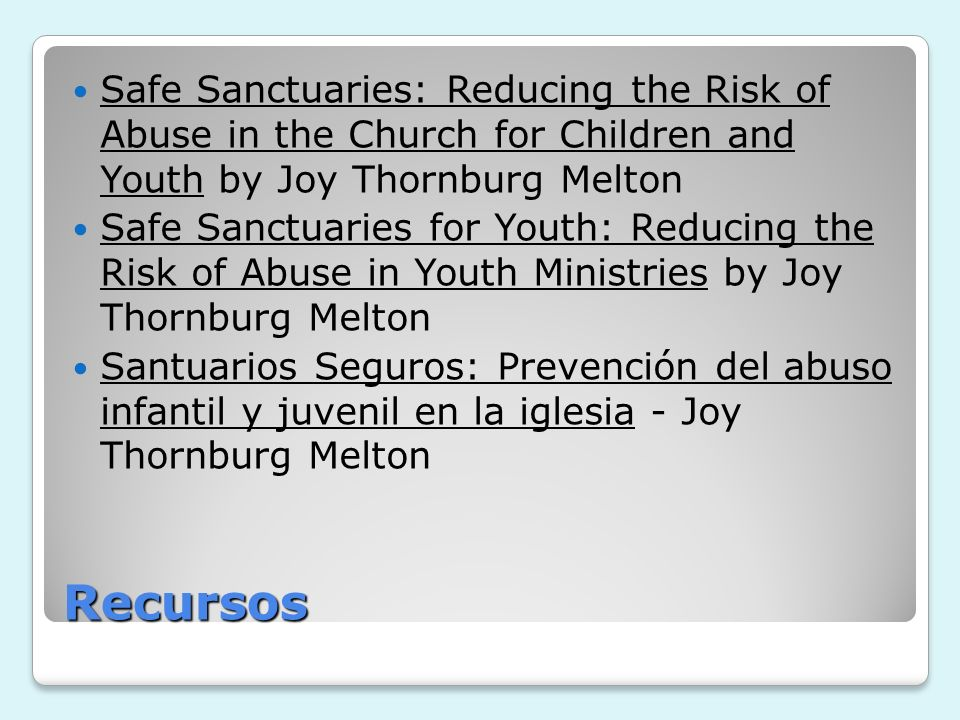 Safe Sanctuaries: Reducing the Risk of Abuse in the Church for Children and Youth by Joy Thornburg Melton