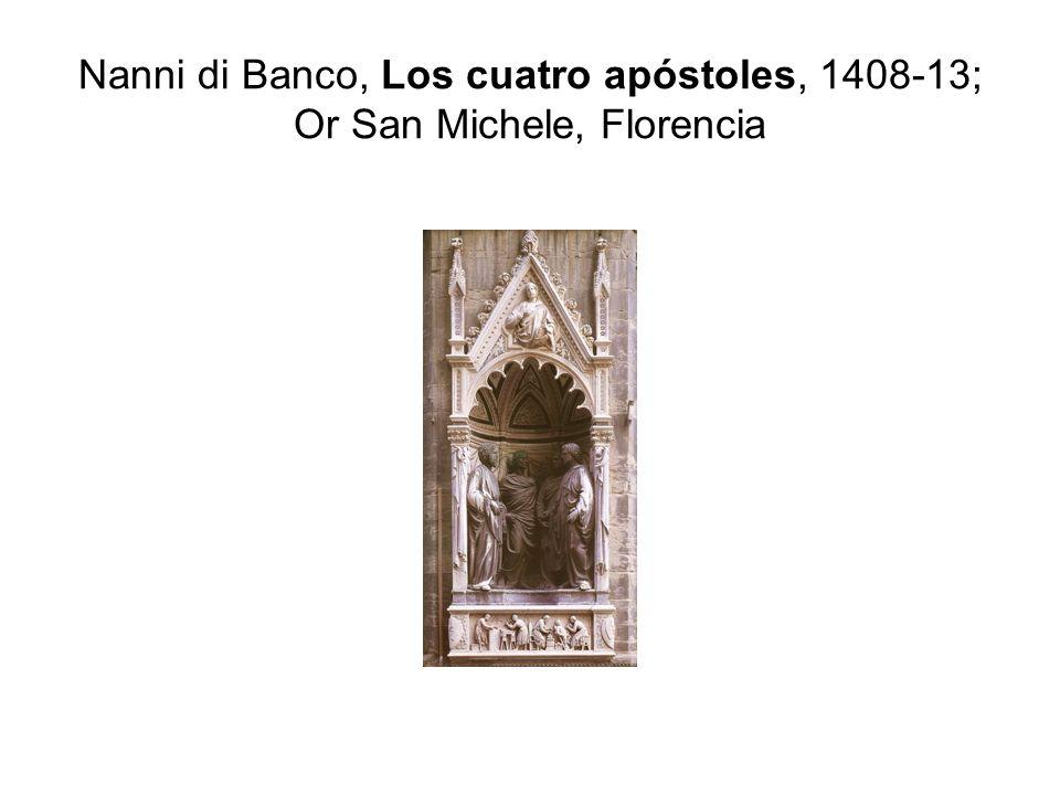Nanni di Banco, Los cuatro apóstoles, 1408-13; Or San Michele, Florencia