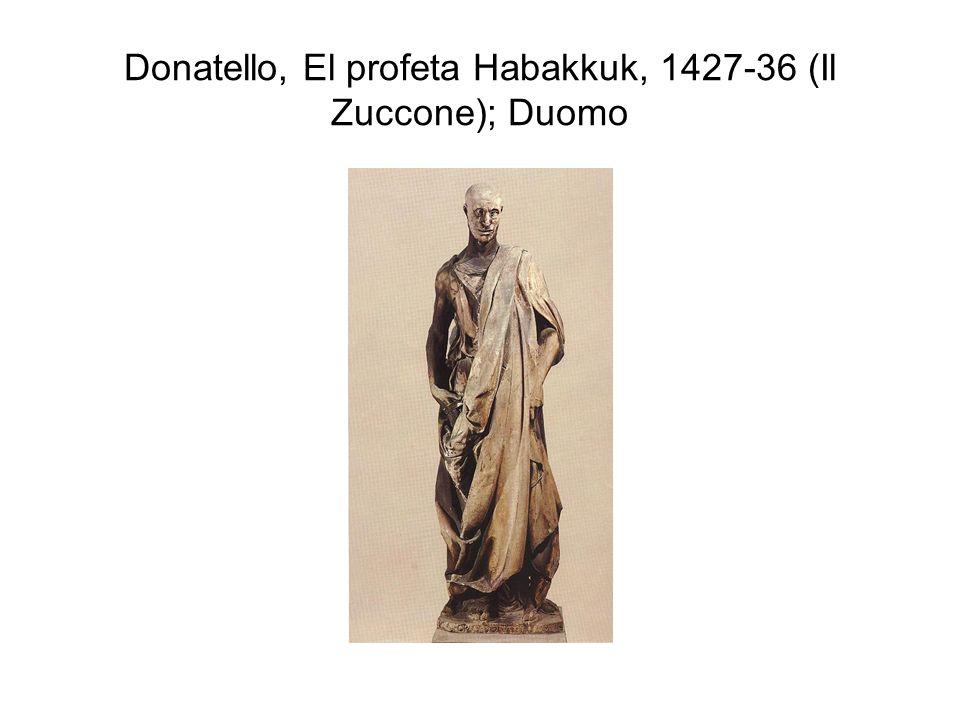 Donatello, El profeta Habakkuk, 1427-36 (Il Zuccone); Duomo