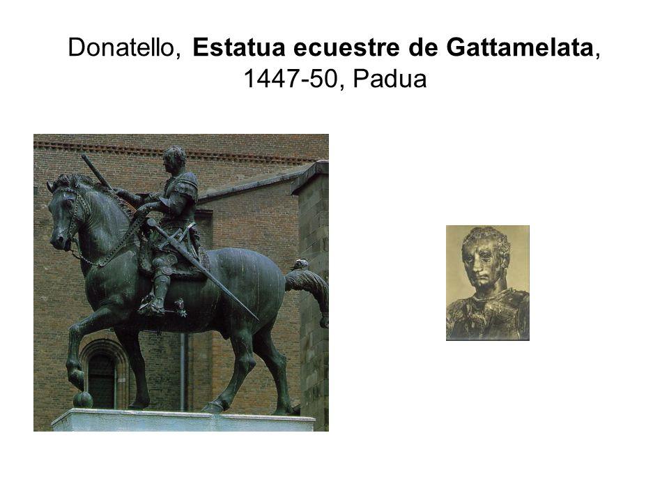 Donatello, Estatua ecuestre de Gattamelata, 1447-50, Padua