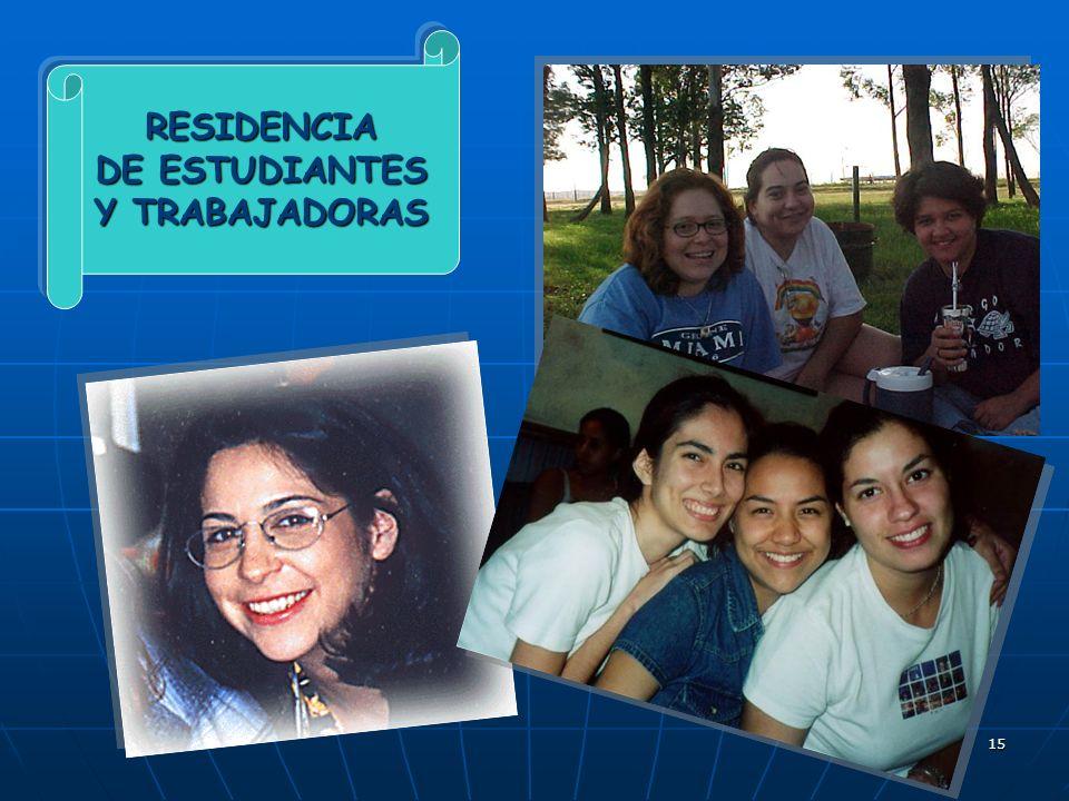 RESIDENCIA DE ESTUDIANTES Y TRABAJADORAS