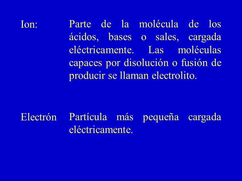 Ion: Electrón.