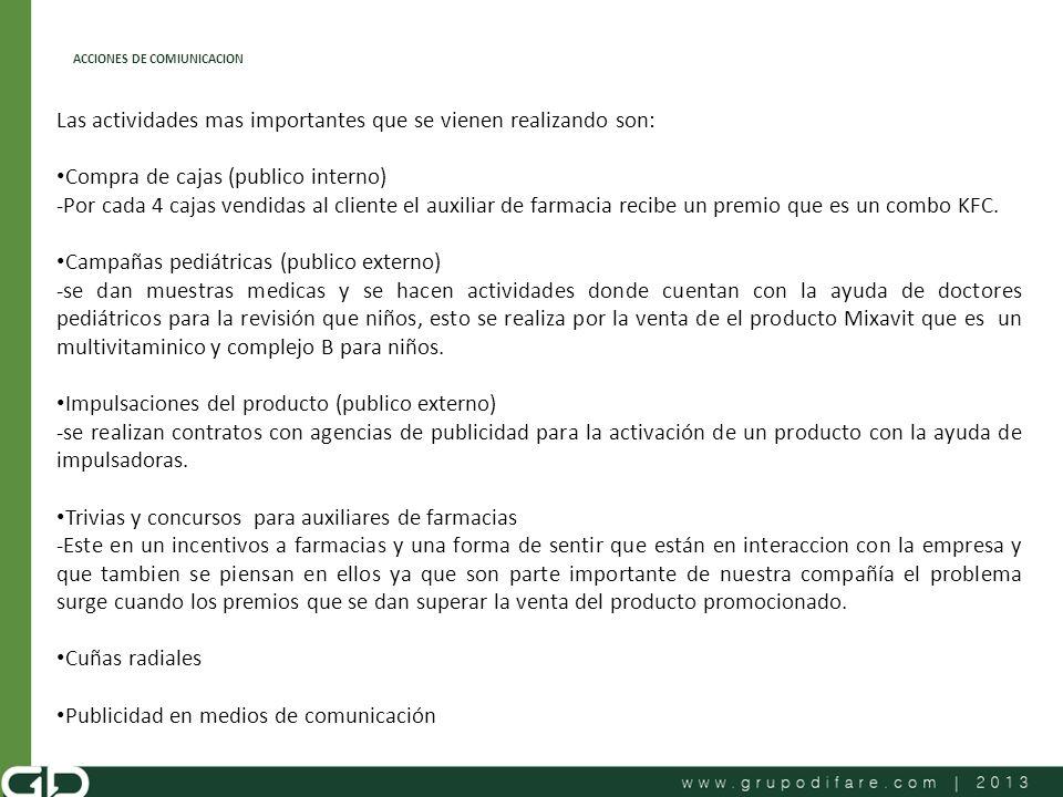 ACCIONES DE COMIUNICACION