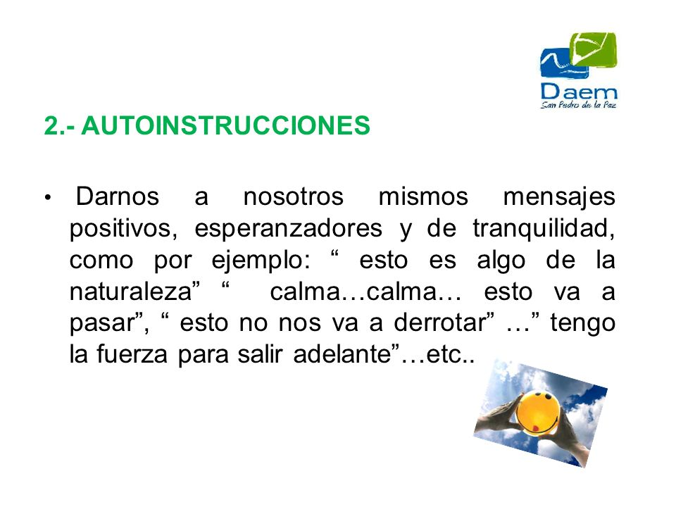2.- AUTOINSTRUCCIONES