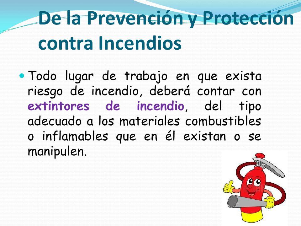 De la Prevención y Protección contra Incendios