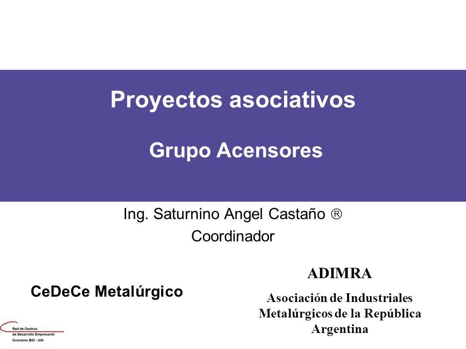 Proyectos asociativos Grupo Acensores
