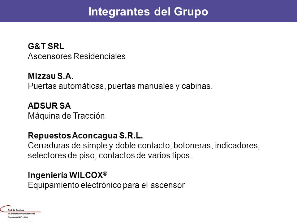 Integrantes del Grupo G&T SRL Ascensores Residenciales Mizzau S.A.