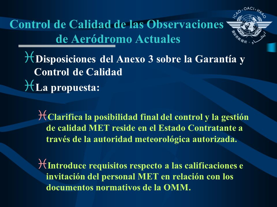 Control de Calidad de las Observaciones de Aeródromo Actuales