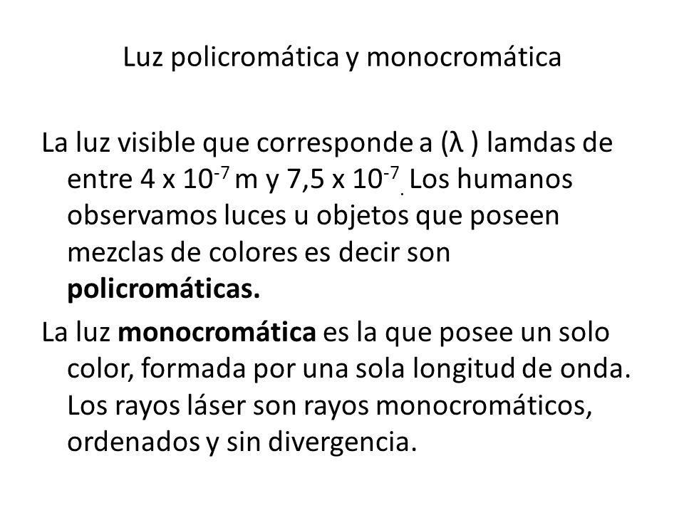Luz policromática y monocromática