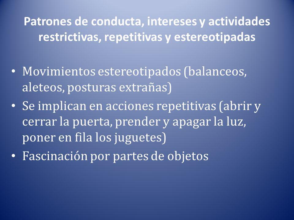 Patrones de conducta, intereses y actividades restrictivas, repetitivas y estereotipadas