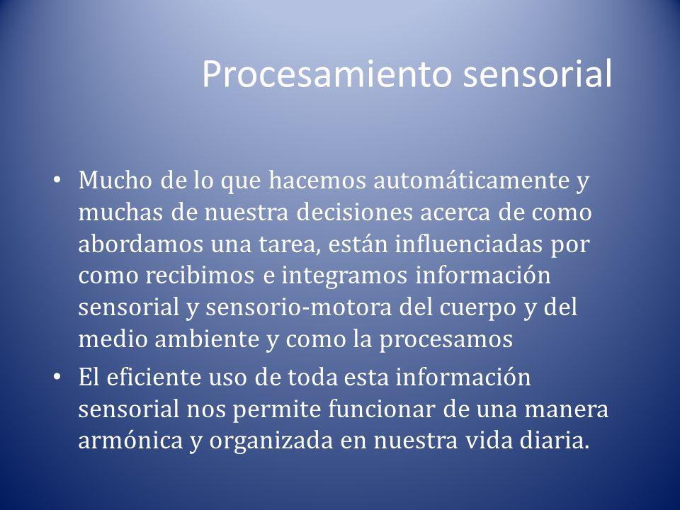 Procesamiento sensorial