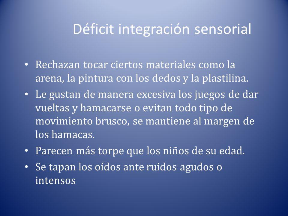 Déficit integración sensorial