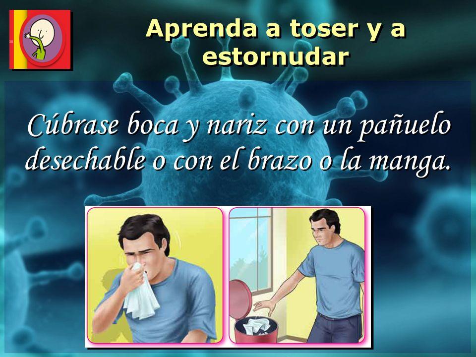 Aprenda a toser y a estornudar