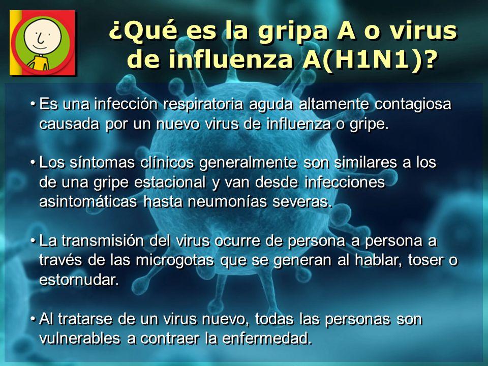 ¿Qué es la gripa A o virus de influenza A(H1N1)