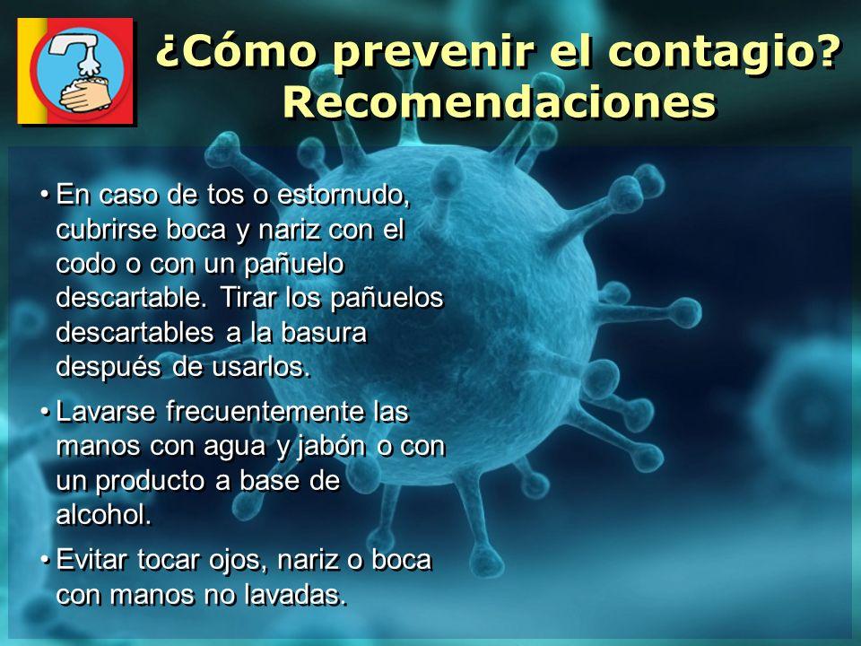 ¿Cómo prevenir el contagio Recomendaciones