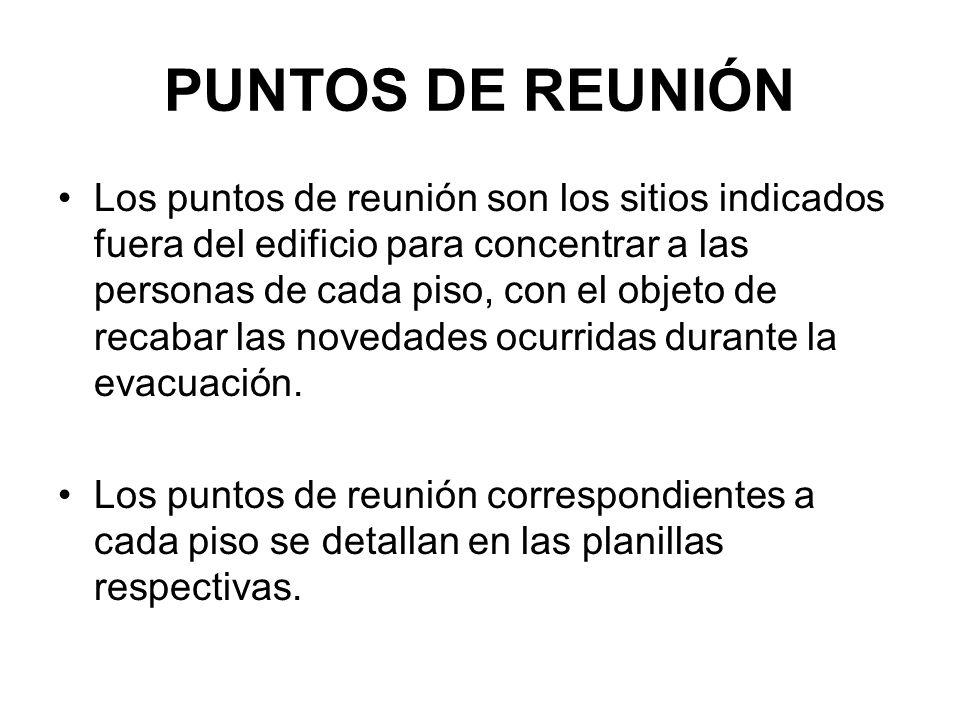 PUNTOS DE REUNIÓN