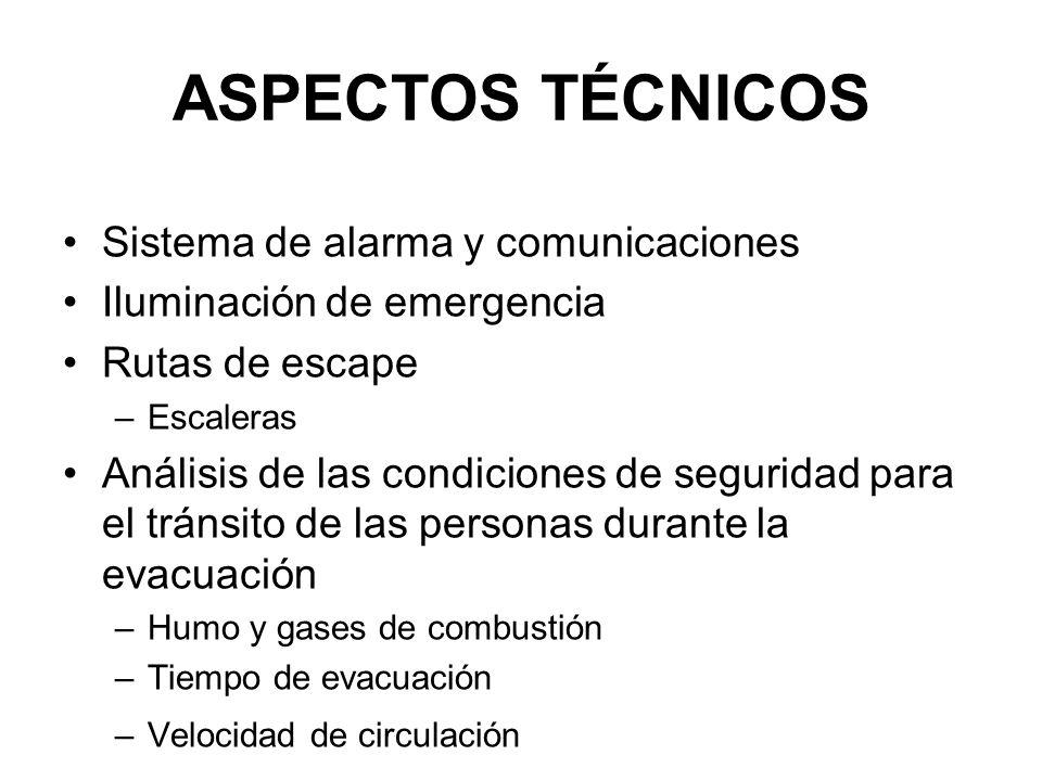 ASPECTOS TÉCNICOS Sistema de alarma y comunicaciones