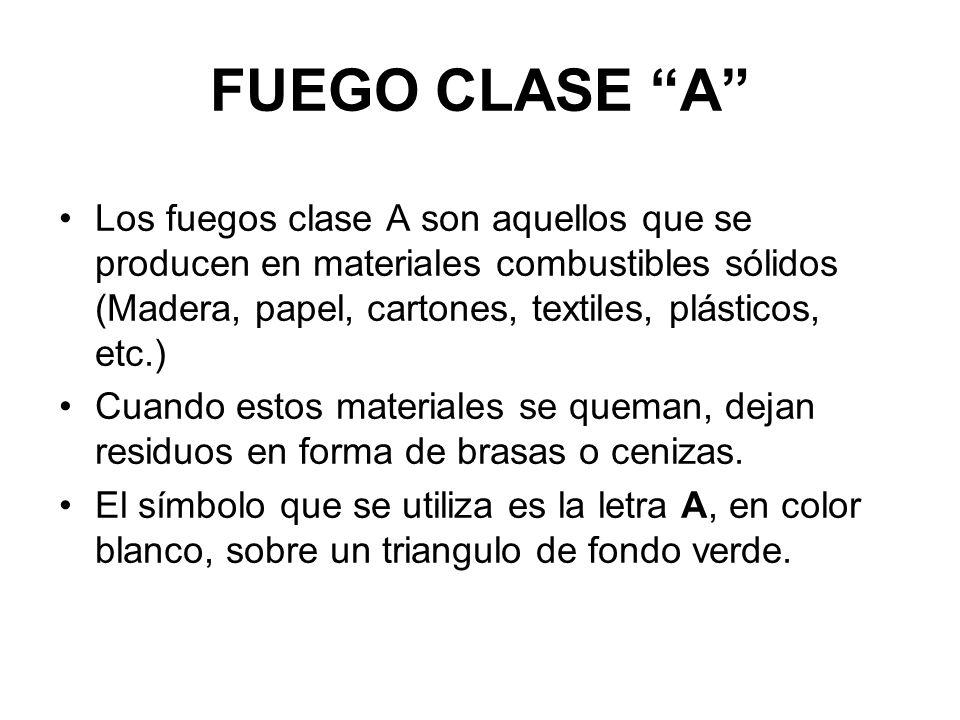 FUEGO CLASE A
