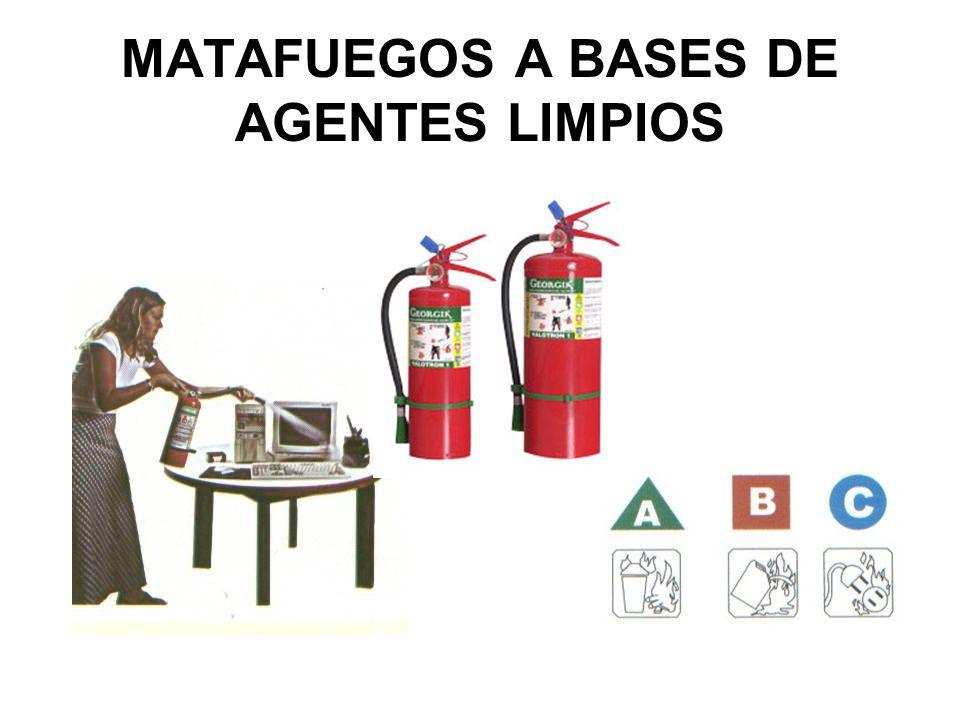 MATAFUEGOS A BASES DE AGENTES LIMPIOS