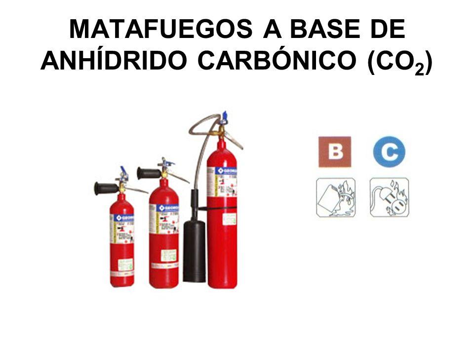 MATAFUEGOS A BASE DE ANHÍDRIDO CARBÓNICO (CO2)