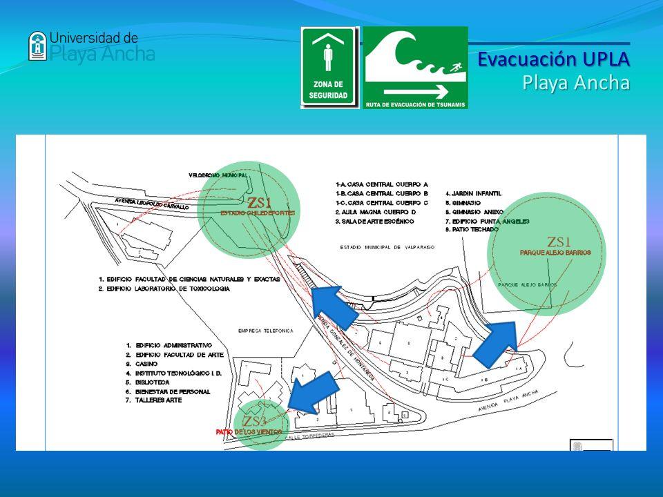 Evacuación UPLA Playa Ancha