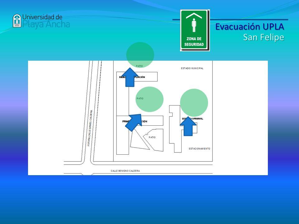 Evacuación UPLA San Felipe