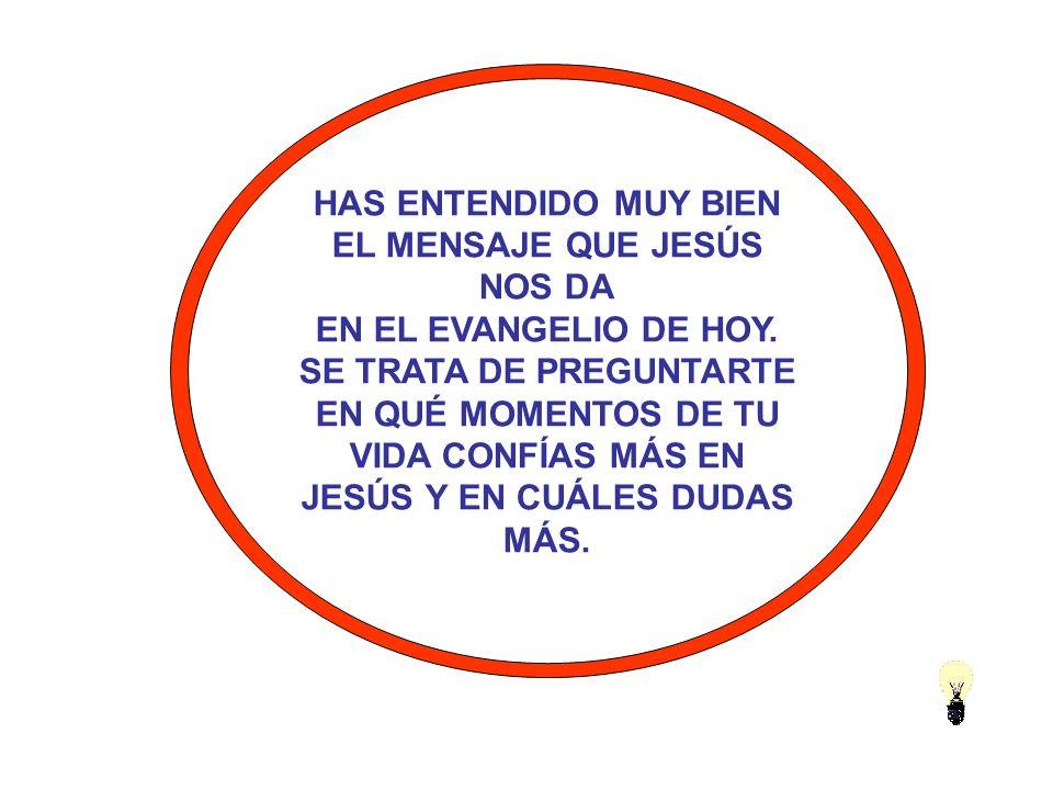 EL MENSAJE QUE JESÚS NOS DA EN EL EVANGELIO DE HOY.