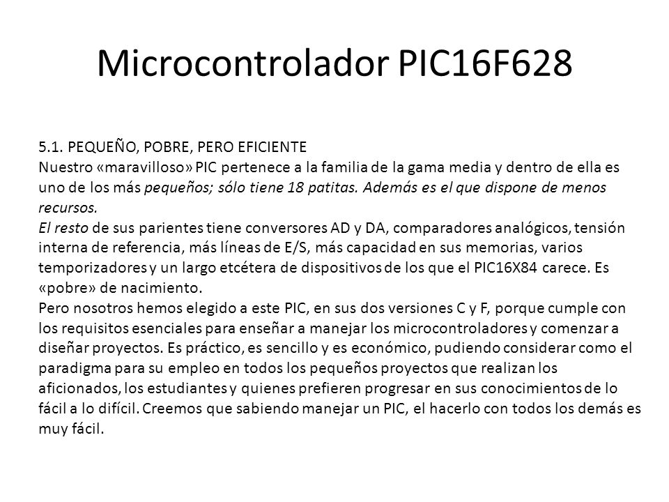 Microcontrolador PIC16F628