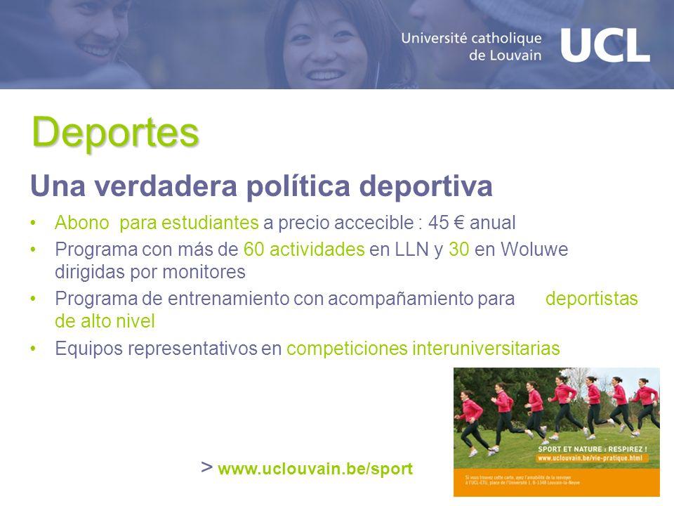 Deportes Una verdadera política deportiva > www.uclouvain.be/sport