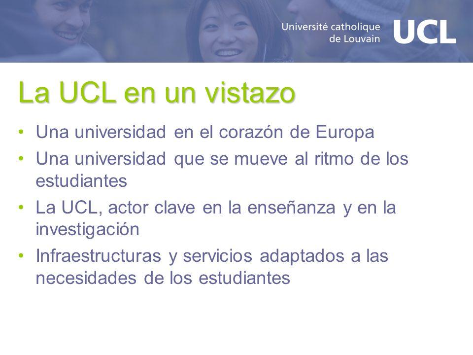 La UCL en un vistazo Una universidad en el corazón de Europa