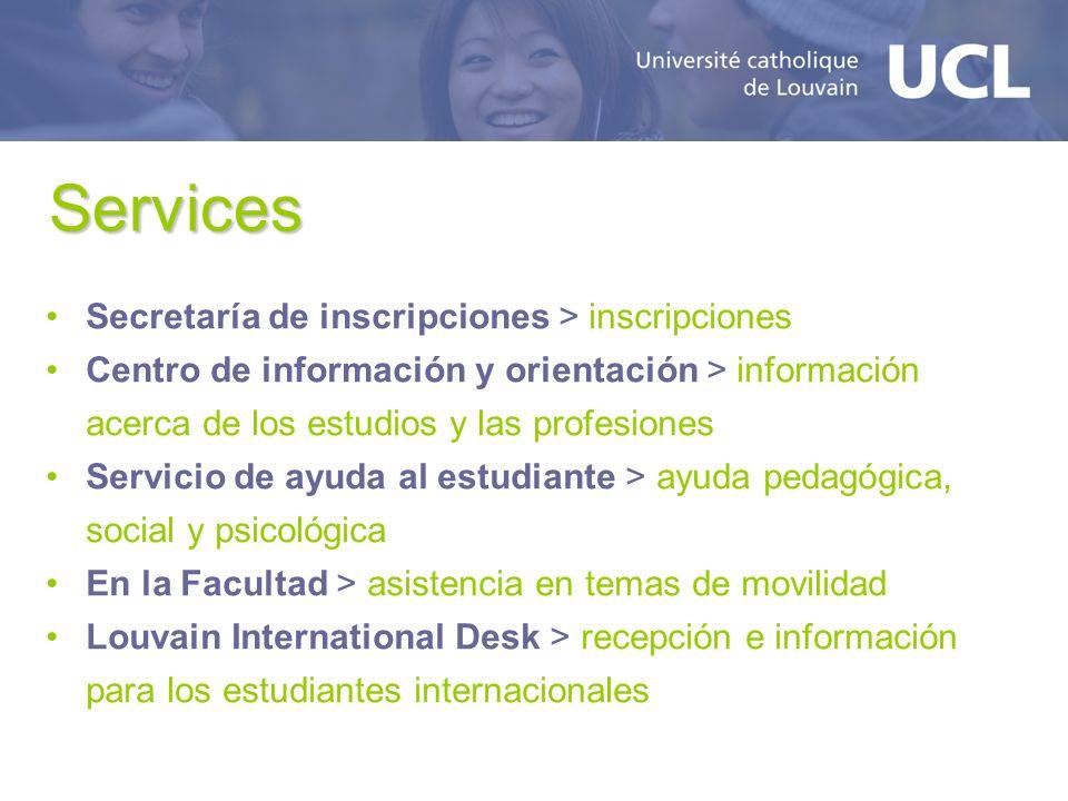 Services Secretaría de inscripciones > inscripciones