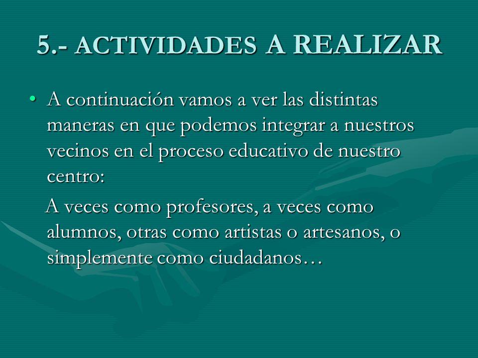 5.- ACTIVIDADES A REALIZAR