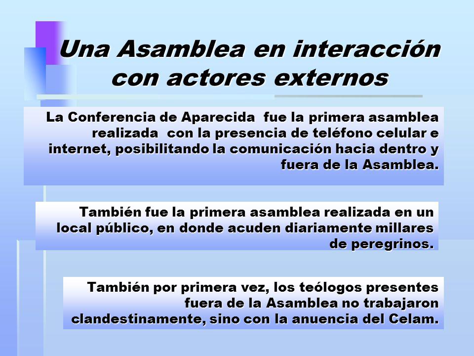 Una Asamblea en interacción con actores externos
