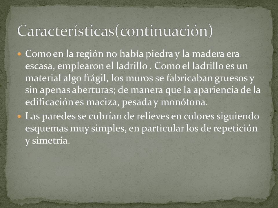 Características(continuación)