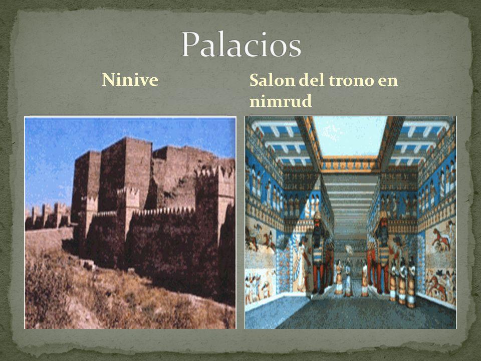 Palacios Ninive Salon del trono en nimrud