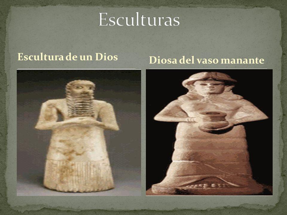 Esculturas Escultura de un Dios Diosa del vaso manante