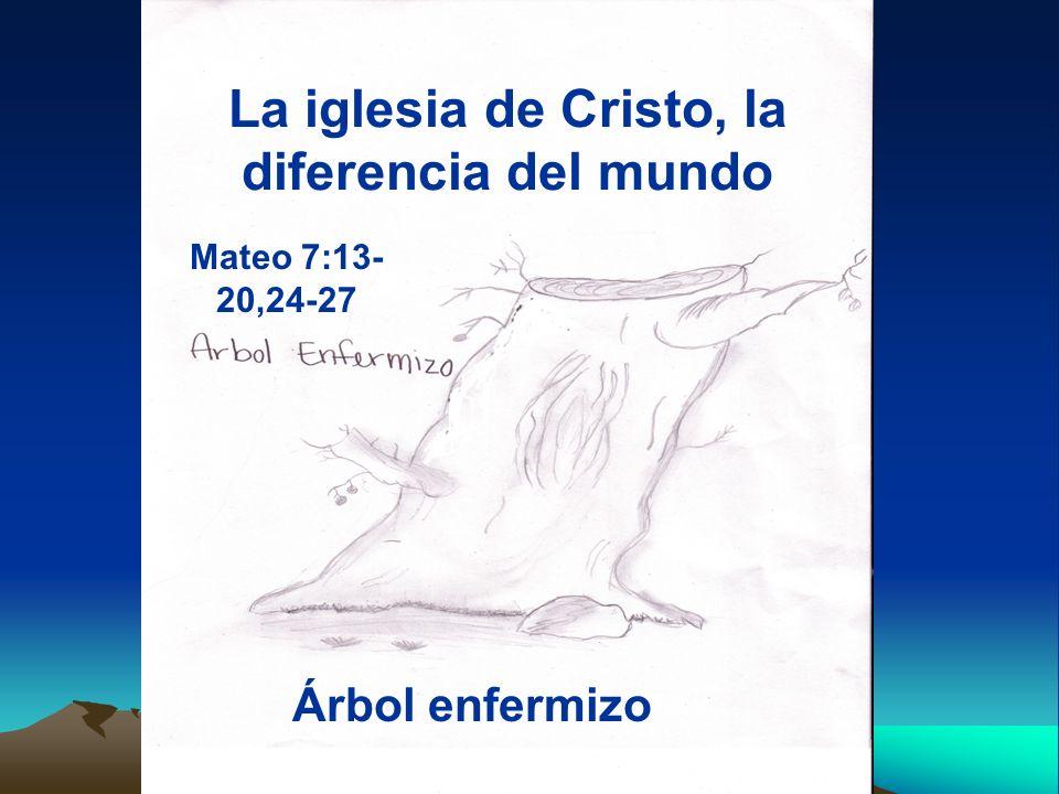 La iglesia de Cristo, la diferencia del mundo