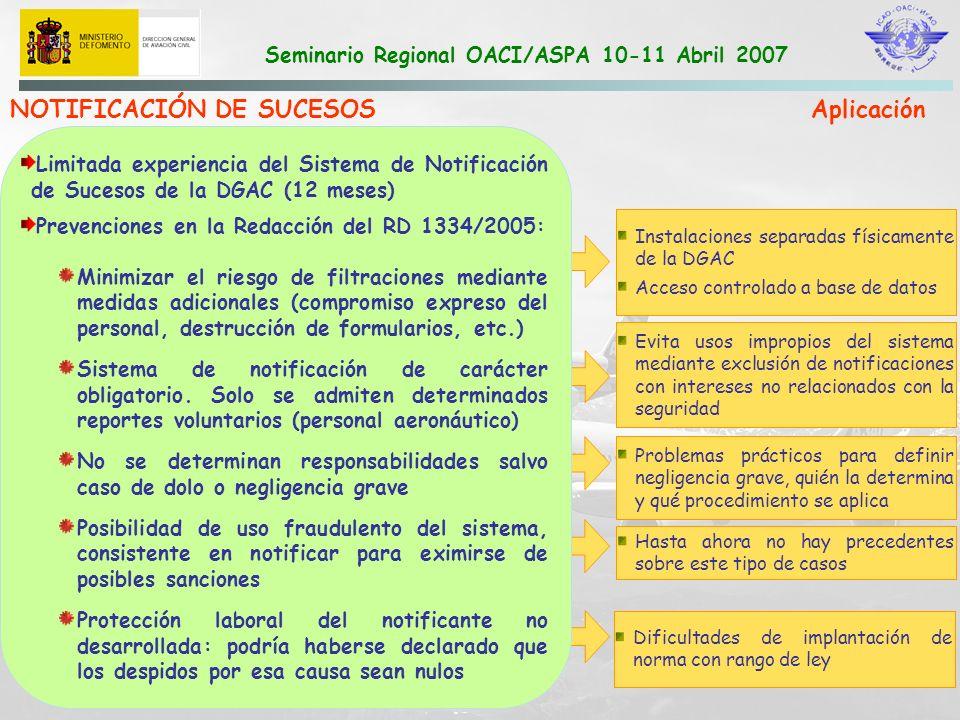 NOTIFICACIÓN DE SUCESOS Aplicación