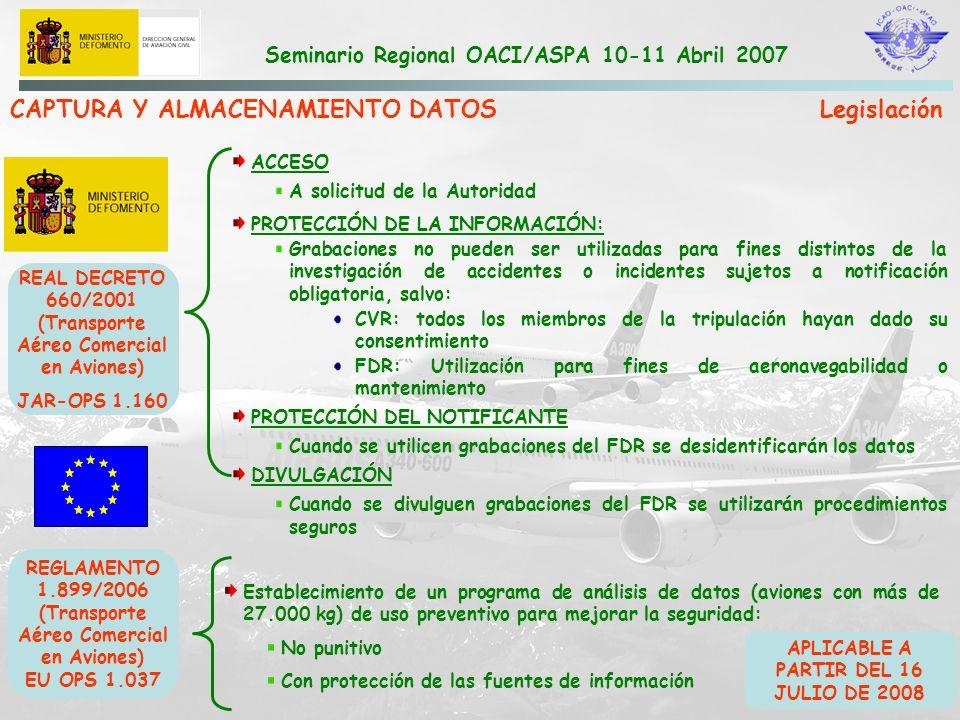 CAPTURA Y ALMACENAMIENTO DATOS Legislación