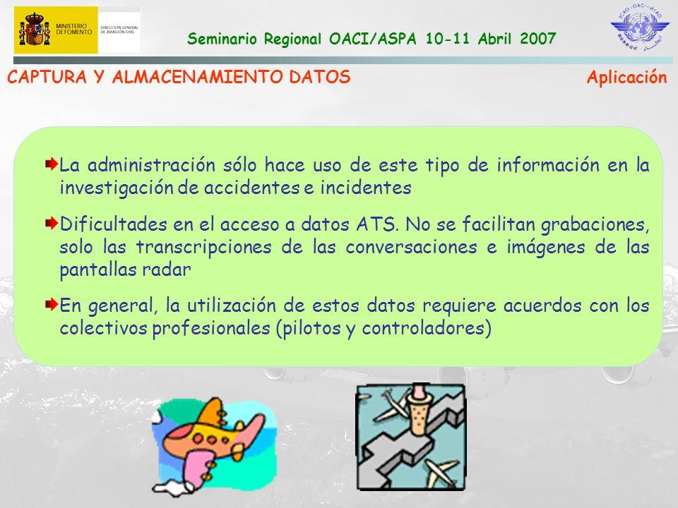 CAPTURA Y ALMACENAMIENTO DATOS Aplicación