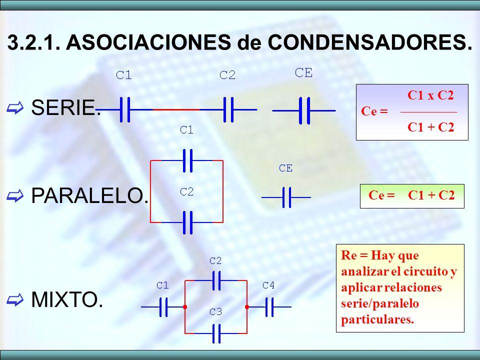 3.2.1. ASOCIACIONES de CONDENSADORES.