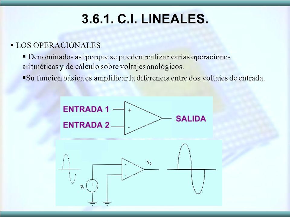 3.6.1. C.I. LINEALES. LOS OPERACIONALES