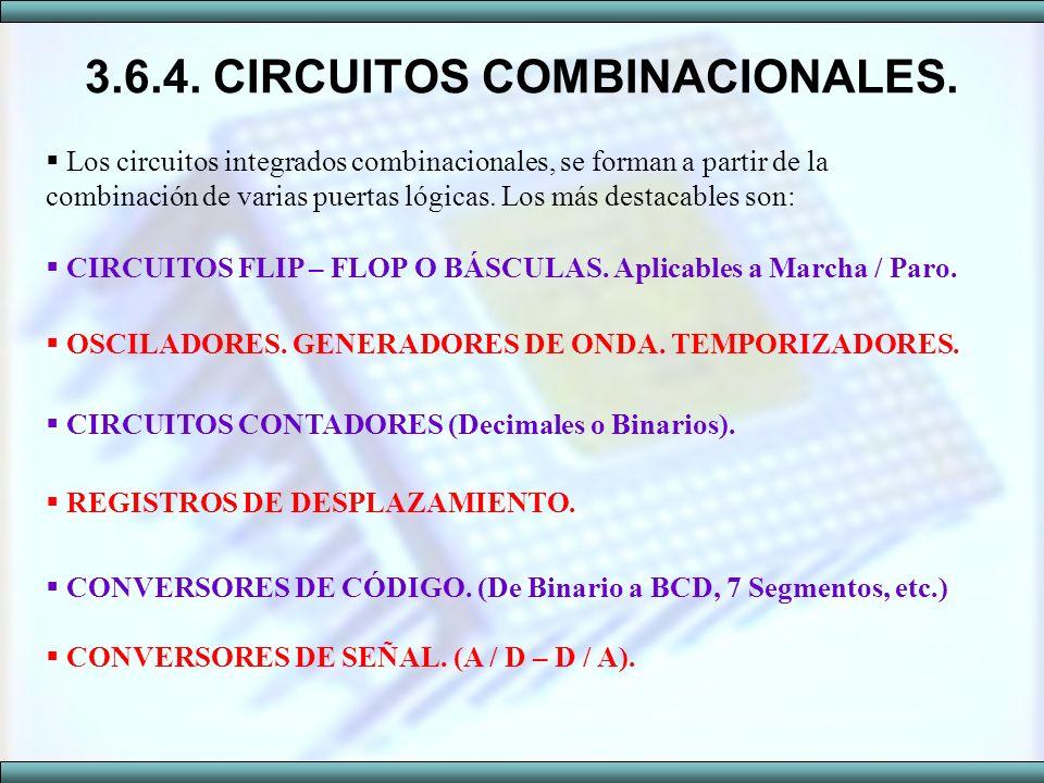 3.6.4. CIRCUITOS COMBINACIONALES.