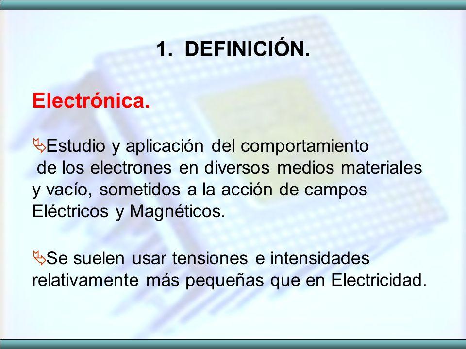 1. DEFINICIÓN. Electrónica.