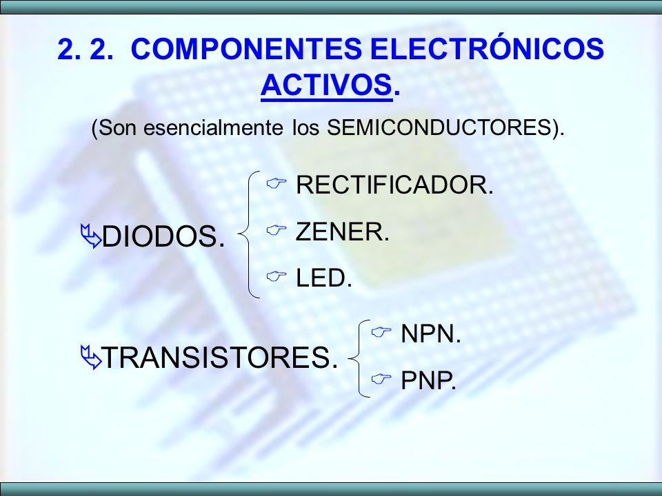 2. 2. COMPONENTES ELECTRÓNICOS ACTIVOS.