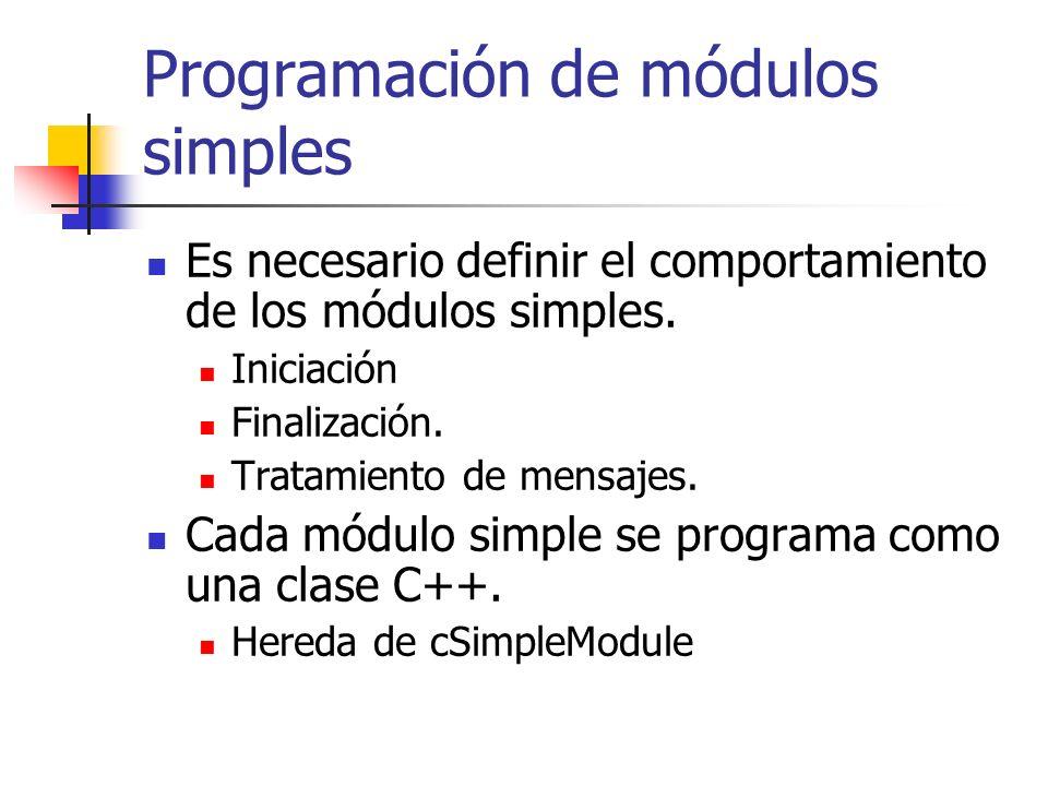 Programación de módulos simples