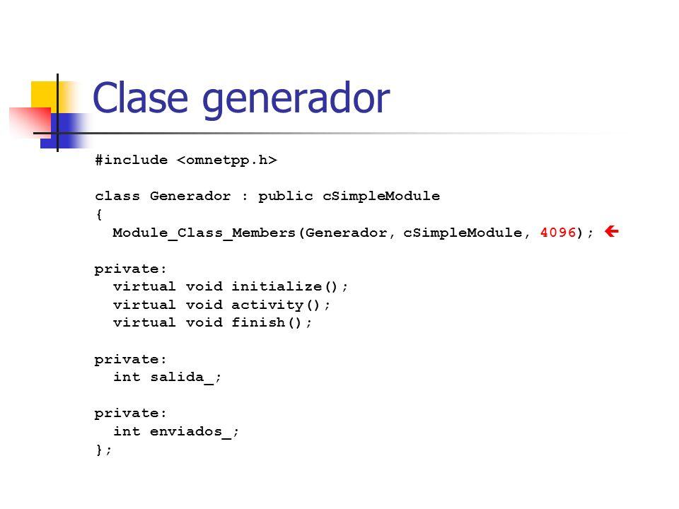 Clase generador #include <omnetpp.h>
