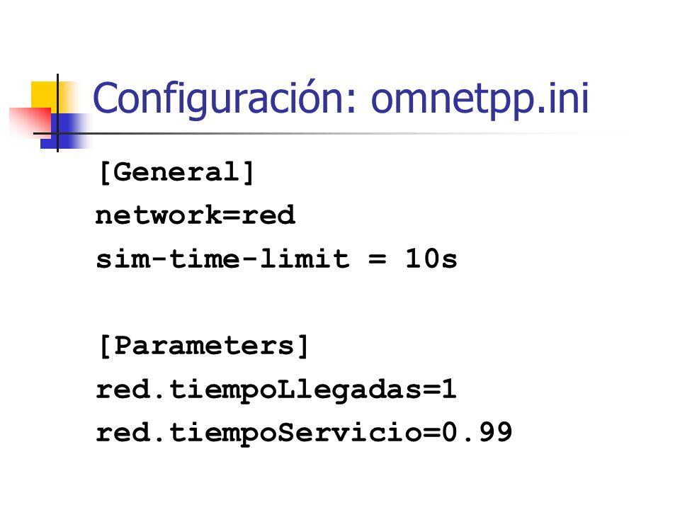 Configuración: omnetpp.ini